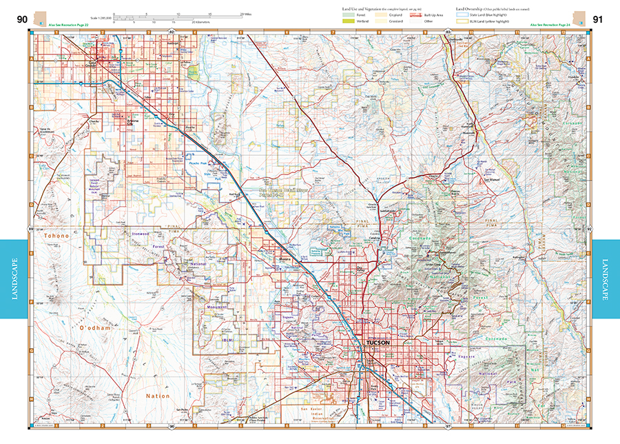 Arizona Road Recreation Atlas Benchmark Maps - Road map of arizona