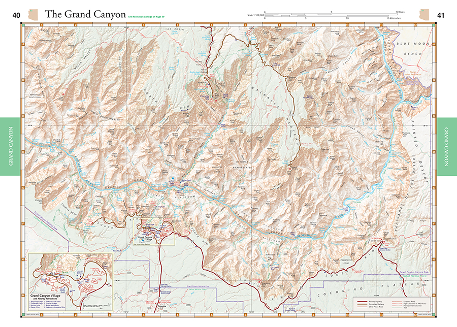 Arizona Road Recreation Atlas Benchmark Maps