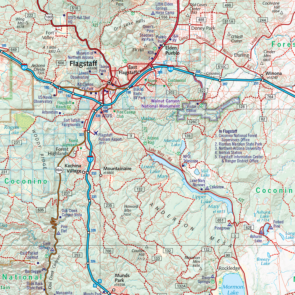 Arizona Road Recreation Atlas Benchmark Maps - Mapof arizona