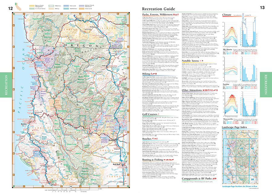 California Road Recreation Atlas Benchmark Maps - Ca road map