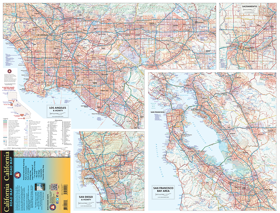 California Road Map Benchmark Maps - California road map
