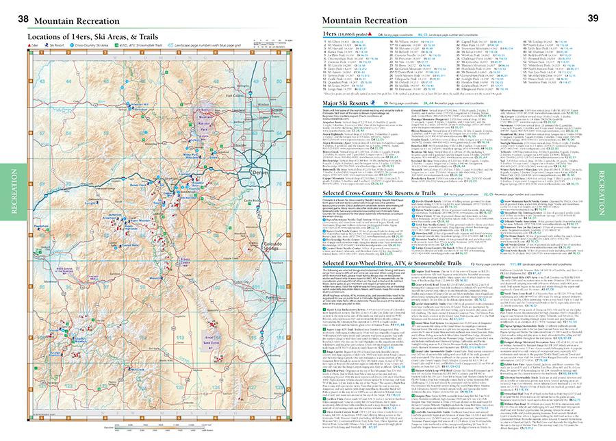 Colorado Road & Recreation Atlas — Benchmark Maps on