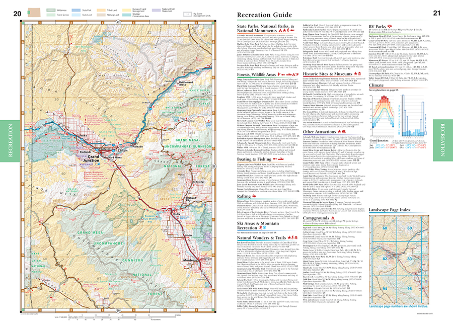 Colorado Road Recreation Atlas Benchmark Maps - Colorado road maps
