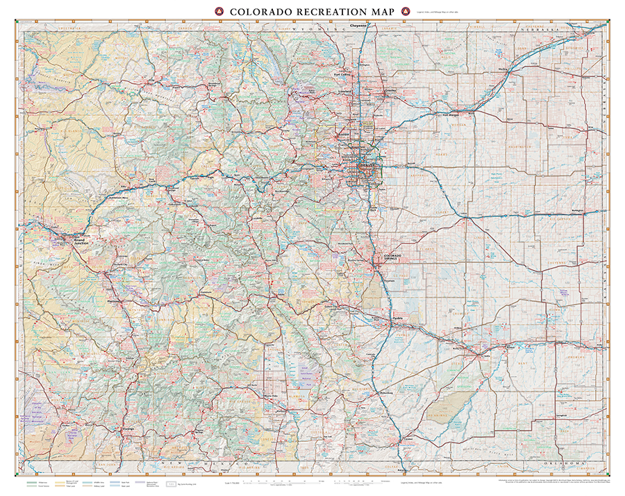 Colorado Recreation Map Benchmark Maps - Map of colorado
