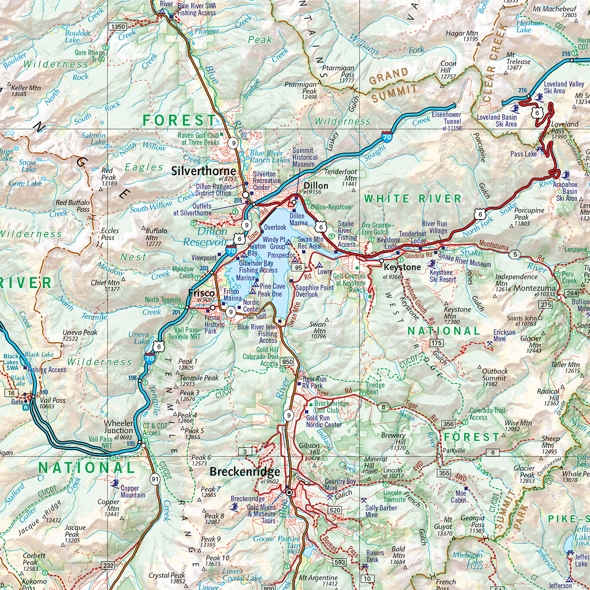 Colorado Road & Recreation Atlas — Benchmark Maps