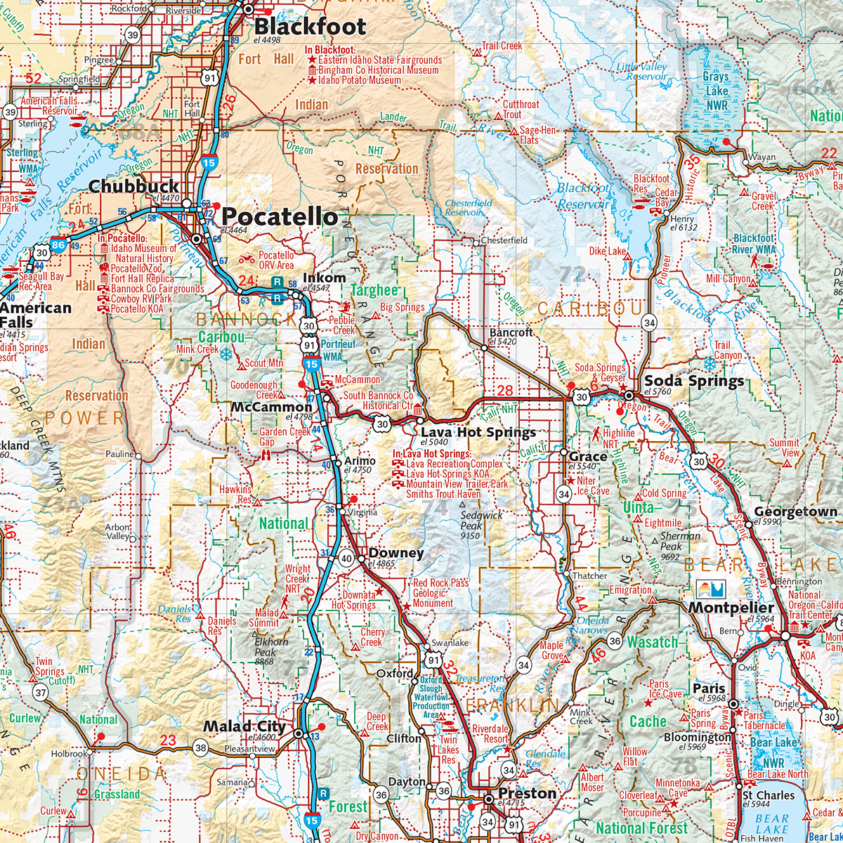 Idaho Recreation Map — Benchmark Maps