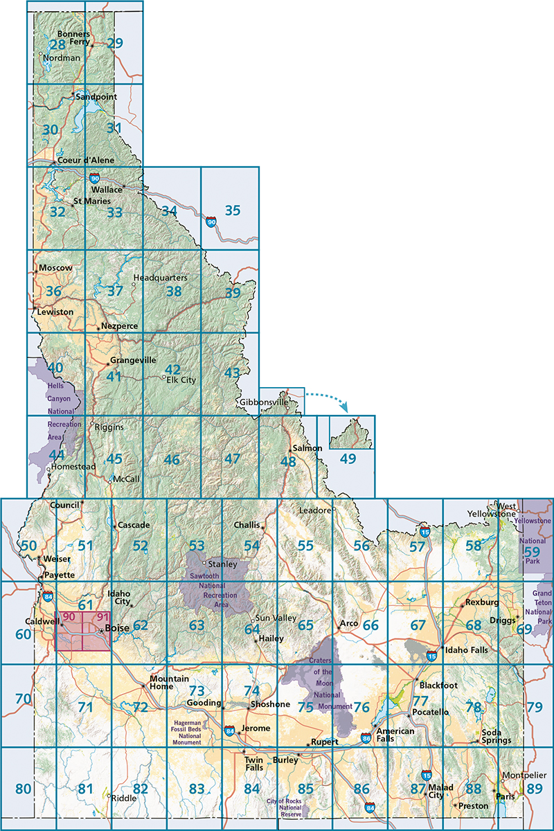 Idaho Road & Recreation Atlas — Benchmark Maps on maryland map, minnesota map, wisconsin map, new jersey map, texas map, usa map, california map, florida map, western us map, washington map, canada map, arizona map, pacific northwest map, montana map, nevada map, missouri map, iowa map, state map, colorado map, maine map, illinois map, utah map, oregon map, indiana map, michigan map, ohio map, north dakota map, hawaii map, louisiana map,
