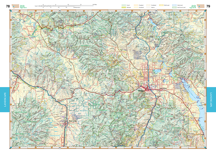Montana Road Recreation Atlas Benchmark Maps - Mt map