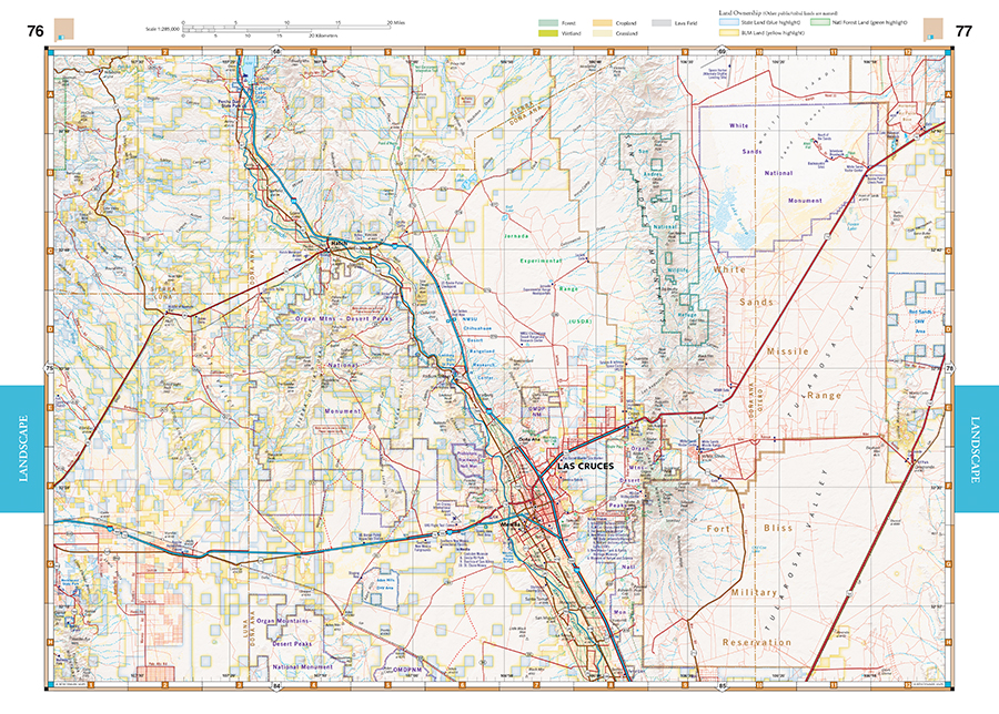 New Mexico Road Recreation Atlas Benchmark Maps - Nm map