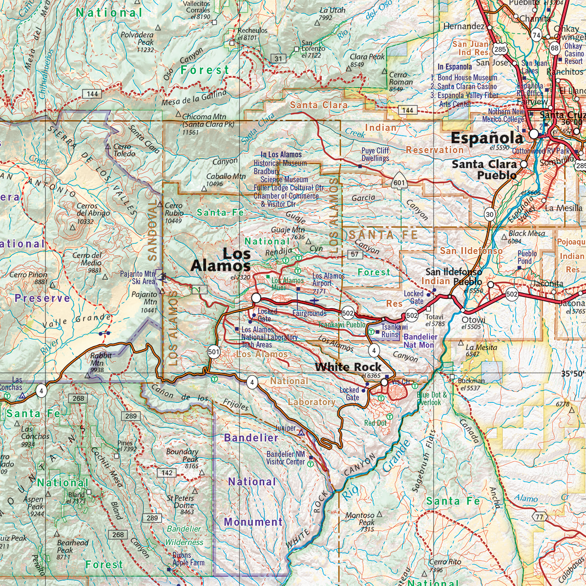 New Mexico Road Recreation Atlas Benchmark Maps - Map of arizona and new mexico