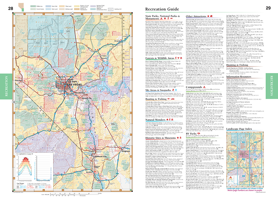 Nevada Road Recreation Atlas Benchmark Maps - Map of nv