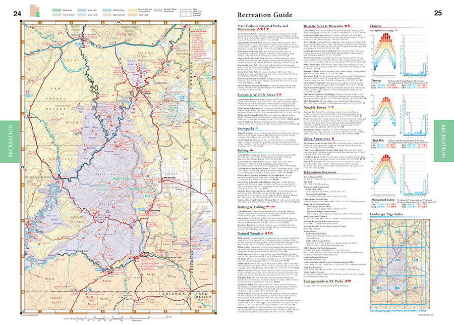 Utah Road Recreation Atlas Benchmark Maps - Utah maps