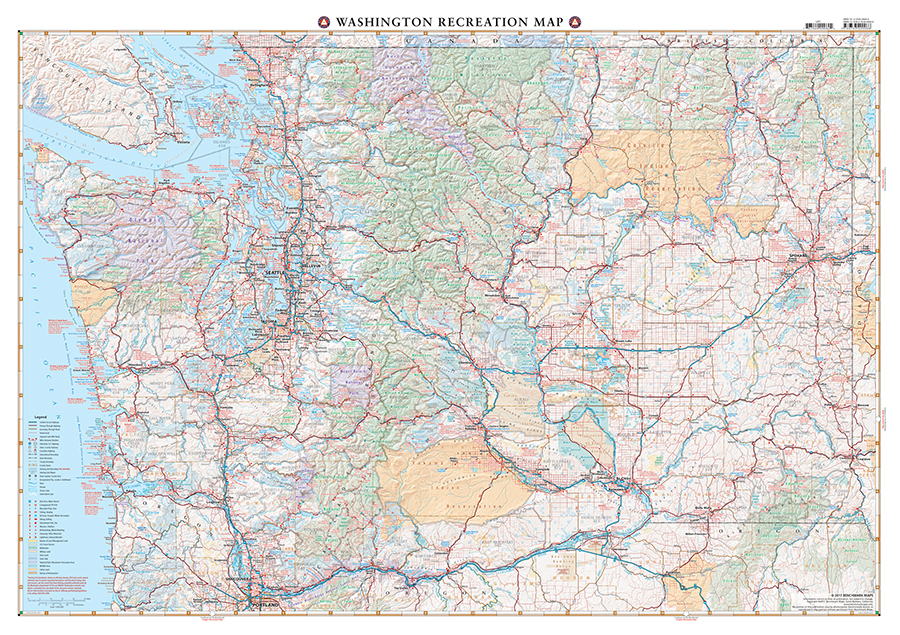 WA Folded Map Side