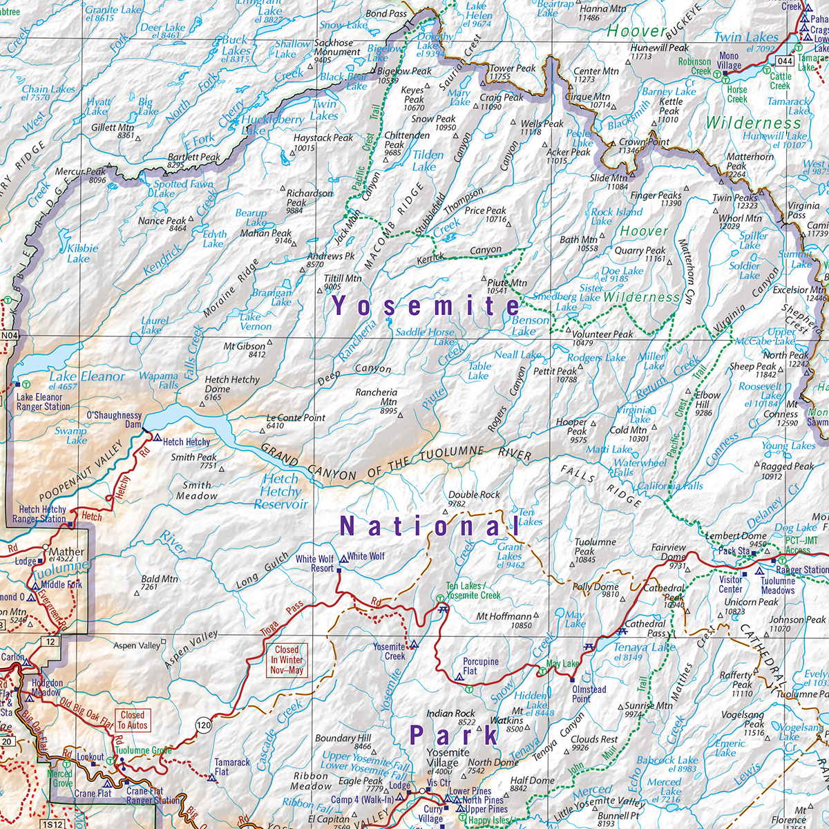 Yosemite National Park Area — Benchmark Maps