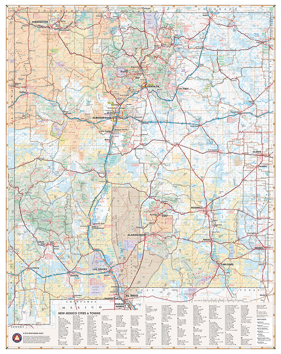 New Mexico Recreation Map Benchmark Maps - Maps of new mexico