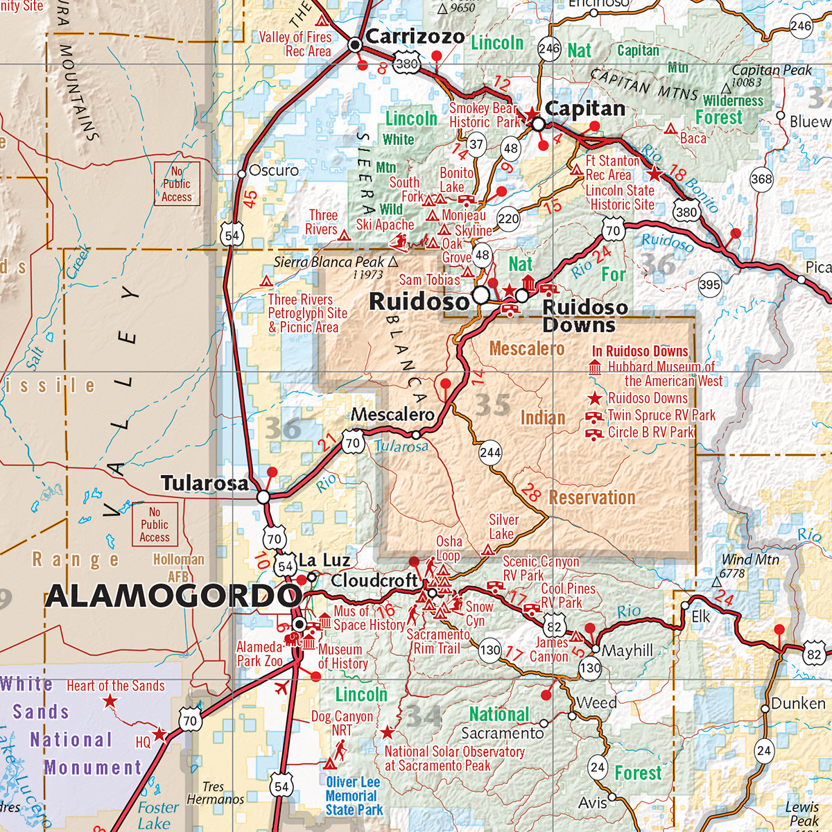 New Mexico Recreation Map Benchmark Maps