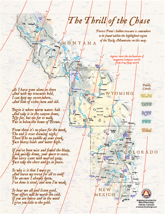Forrest Fenn's Treasure And Benchmark Maps \u2014: Colorado Map Book At Usa Maps