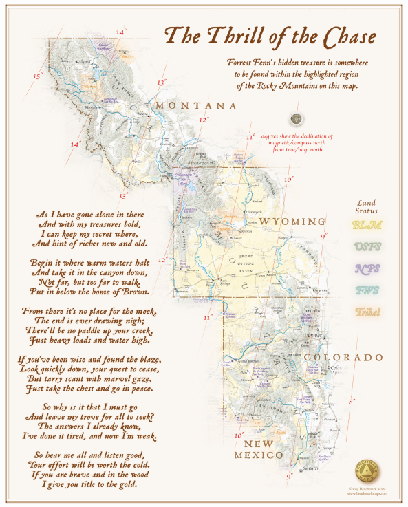 Forrest Fenn Treasure Map Poem