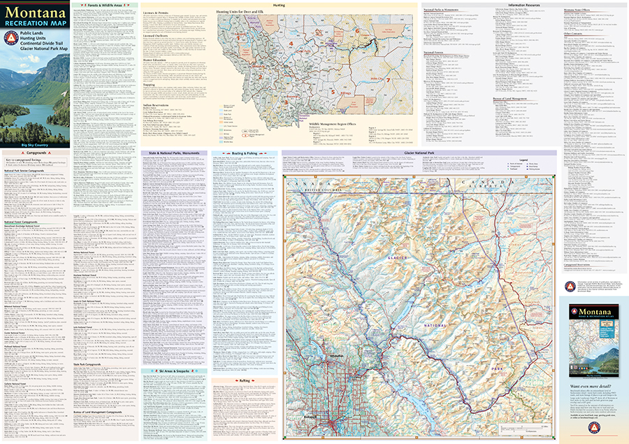 Montana Recreation Map Benchmark Maps - Mt map