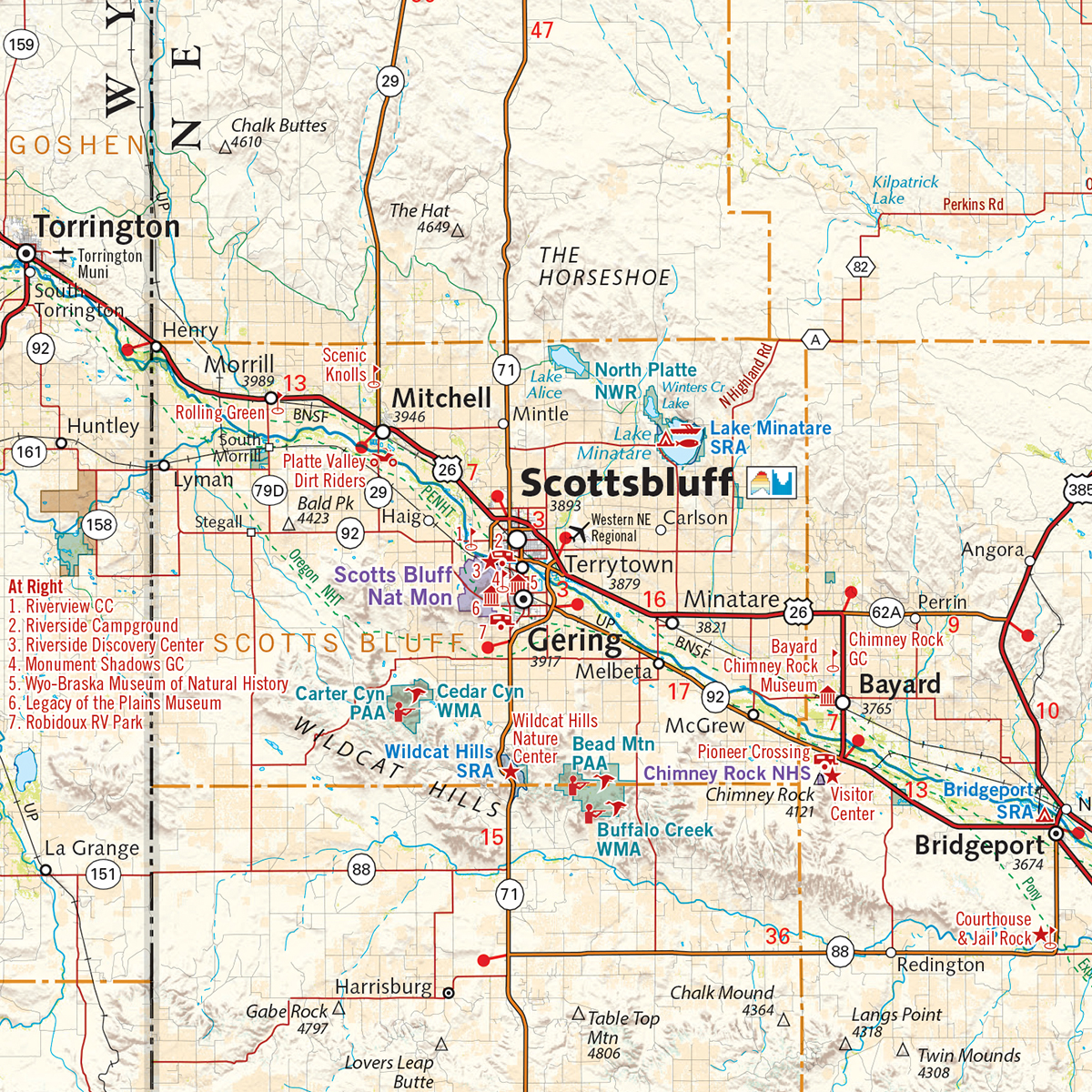 Nebraska Recreation Map Benchmark Maps - Ne map