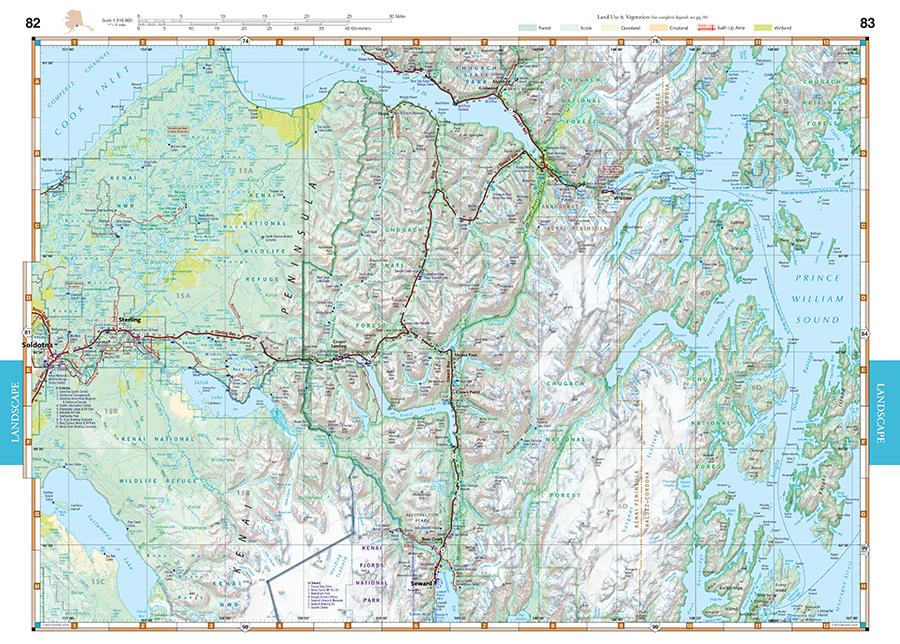 Alaska Road Recreation Atlas Benchmark Maps - Alaska road map