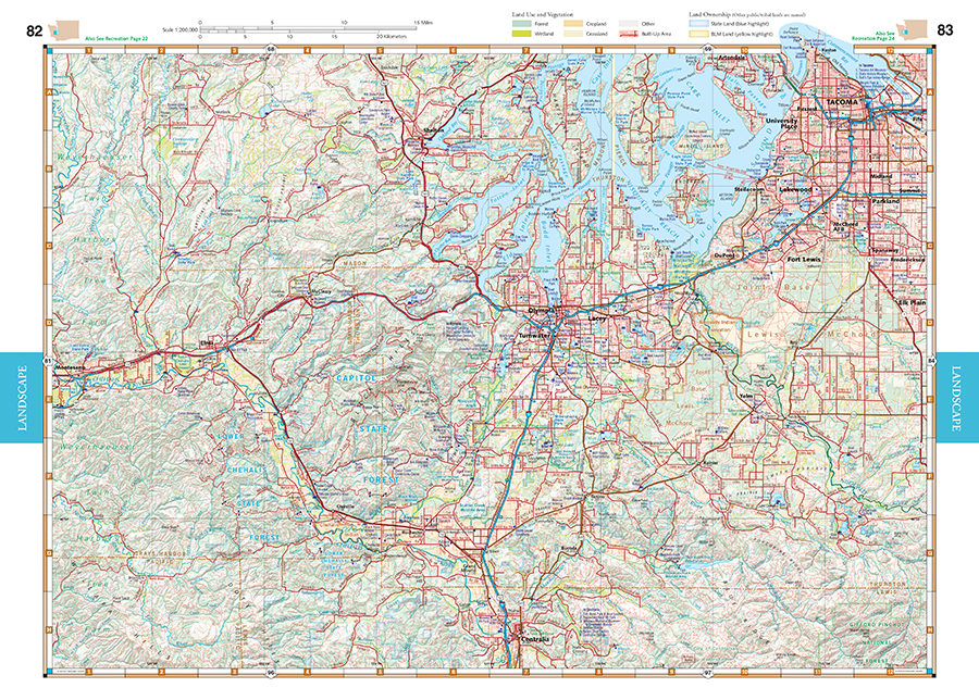 Washington Road Recreation Atlas Benchmark Maps