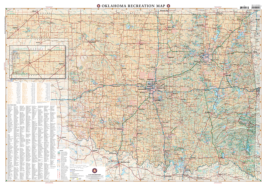 Oklahoma Recreation Map Benchmark Maps - Map oklahoma