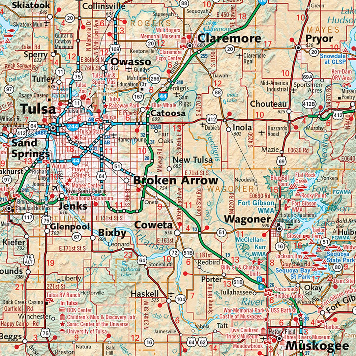 Oklahoma Recreation Map