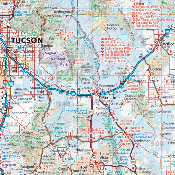 Arizona Recreation Wall Map