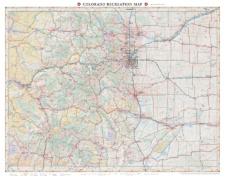 Colorado Recreation Wall Map