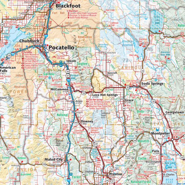 Idaho Recreation Wall Map