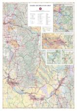 Idaho Recreation Wall Map