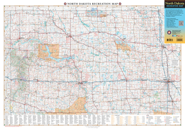 North Dakota Recreation Map