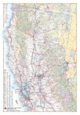 Northern California Recreation Wall Map
