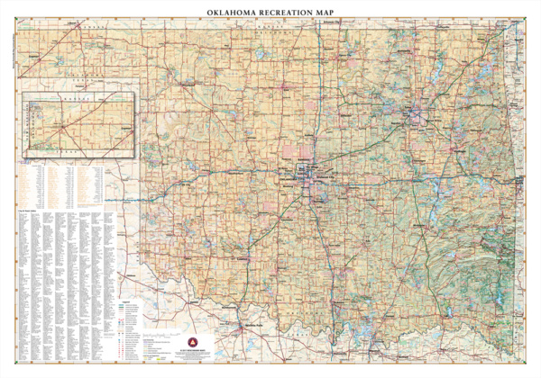 Oklahoma Recreation Wall Map