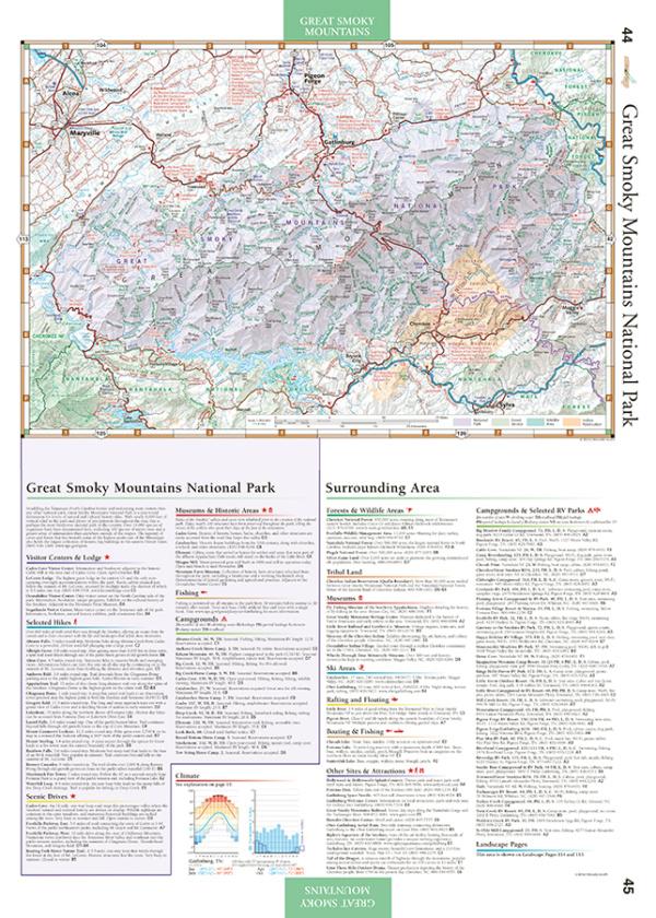 Southern Appalachians Road & Recreation Atlas