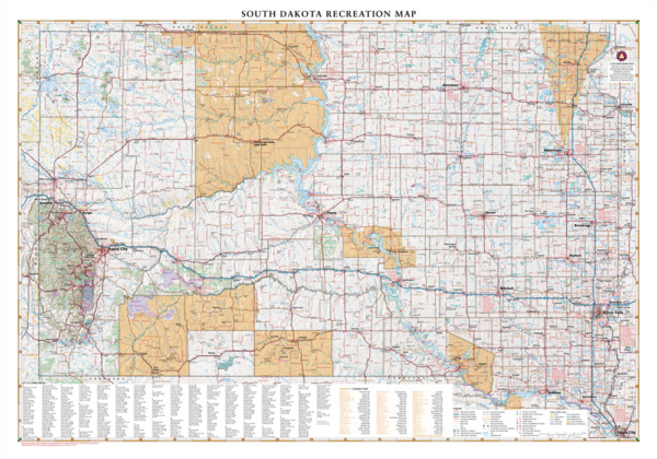 South Dakota Recreation Wall Map