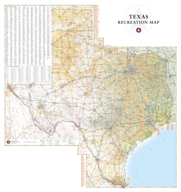 Texas Recreation Wall Map