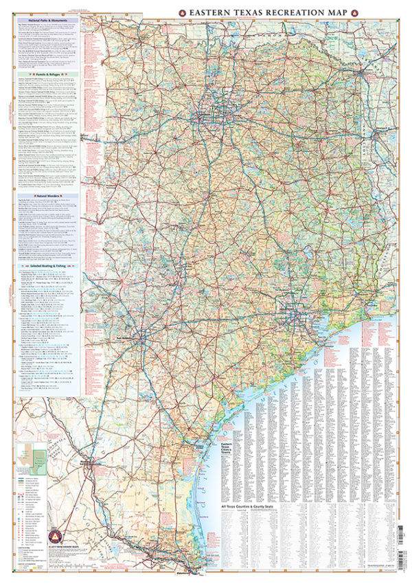 Eastern Texas Recreation Map